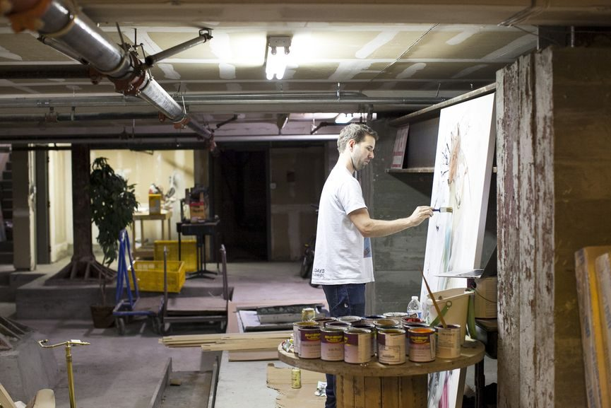 artists in the studio