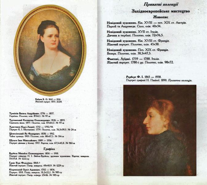 The authentic 1998 catalogue, Copyright Kharkov Art Museum