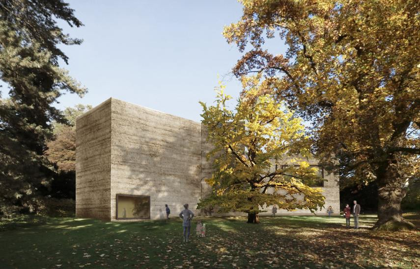 The extension project of the Fondation Beyeler by Atelier Peter Zumthor House for Art, View from the Iselin-Weber Park Courtesy Atelier Peter Zumthor & Partner