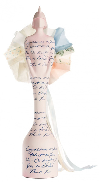 The full version of Tracey Emin's Brit award statue. Photograph Will and Jen Ameryjmenternational