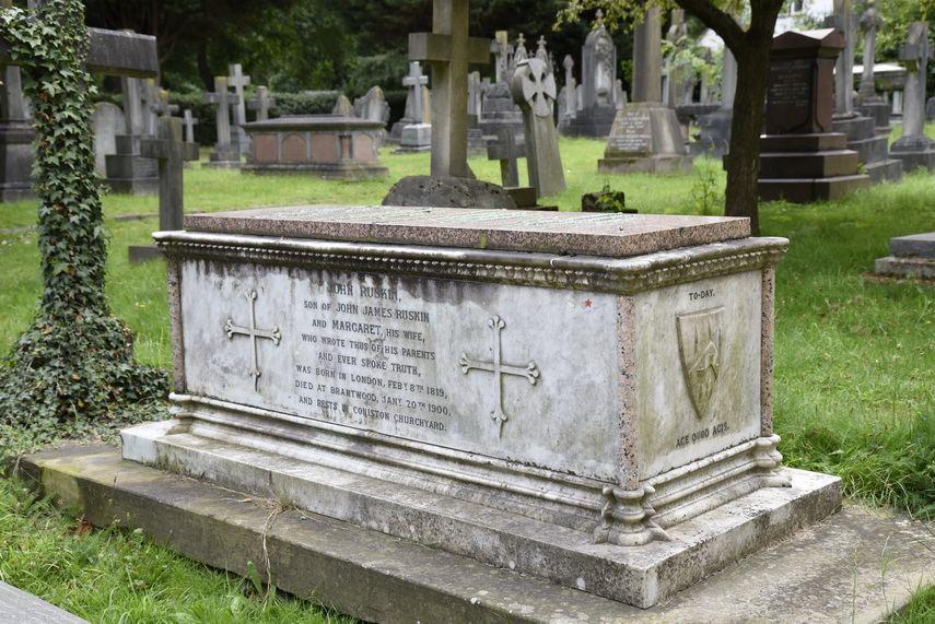 The grave of John Ruskin