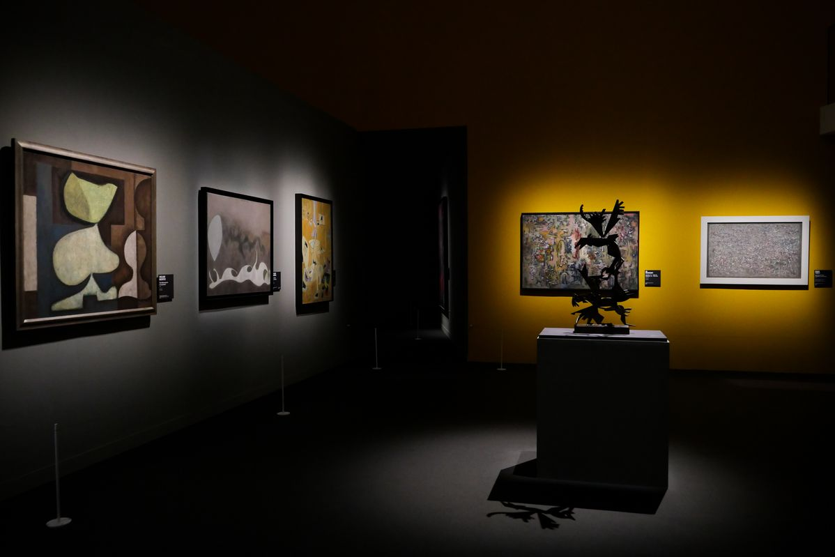 The installation view of Irascibles