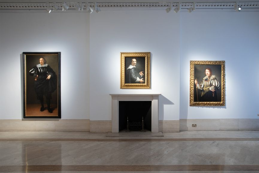 The installation view of The Gentileschi Effect