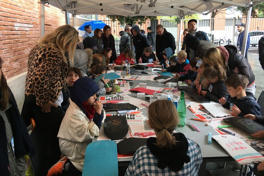 The kids workshop during the exhibition