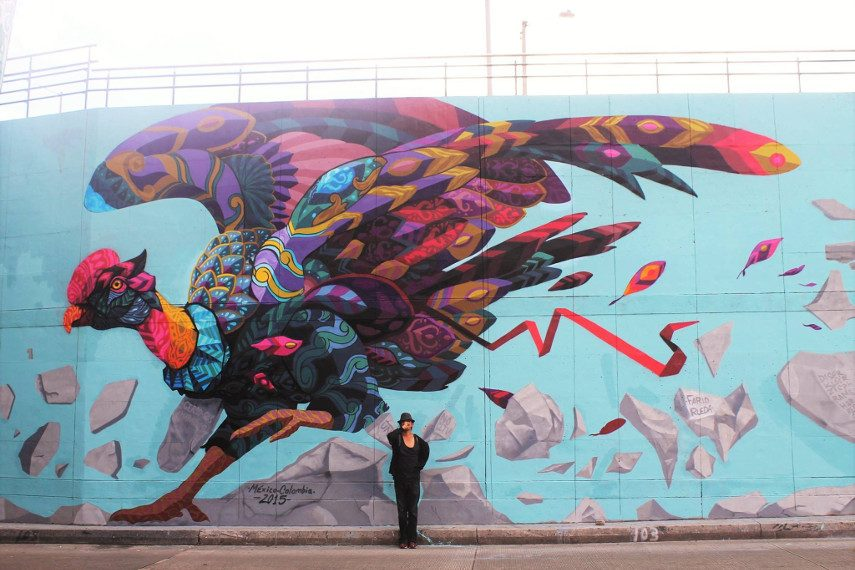 The last flight of Icarus - mural arte pintura más facebook 2015 2016
