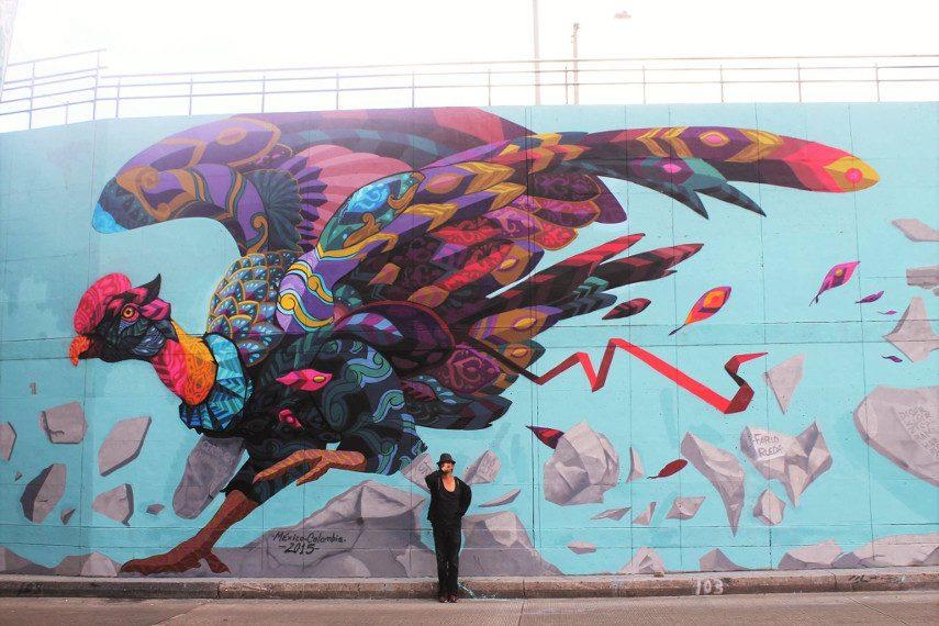 The last flight of Icarus - mural arte pintura más facebook 2015 2016