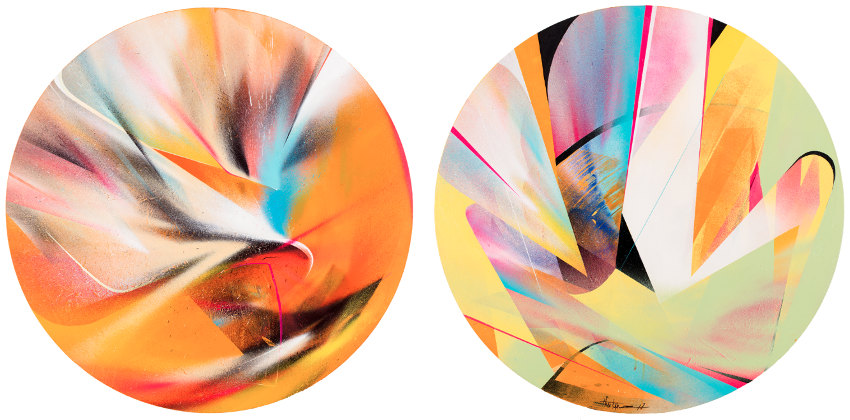 Theo Lopez - Stardust, 2017 (Left) Circle of Trust, 2017 (Right)