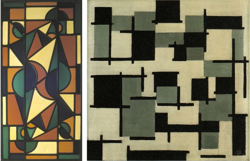 Paintings like Dance II and Composition XIII show how Theo's art evolved over time while referencing his older artwork