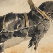 Theodore Gericault - Recto A Cart Horse; Verso A Preliminary Study For A Cart Horse (Detail)