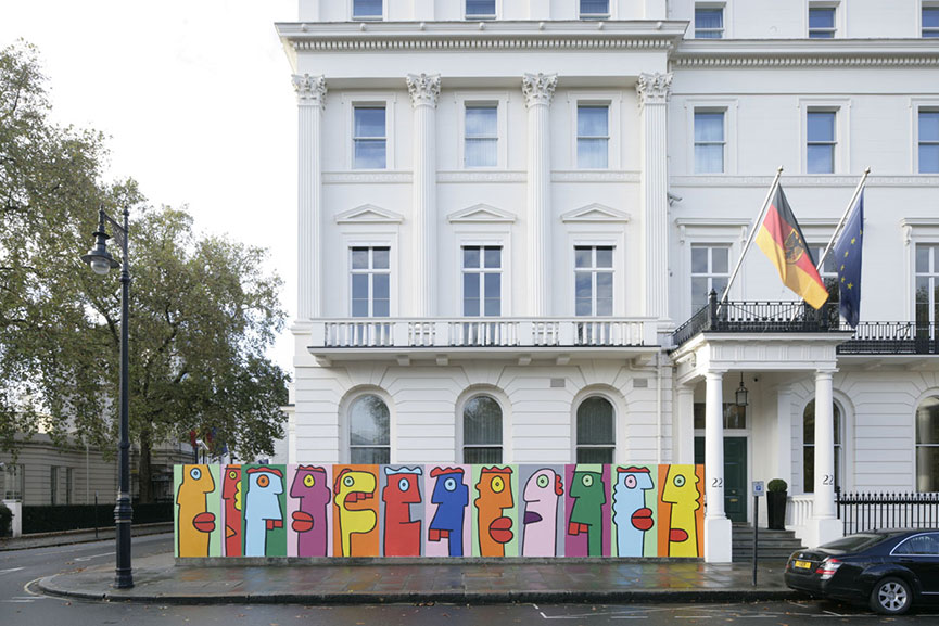 Thierry Noir mural the German Embassy in London