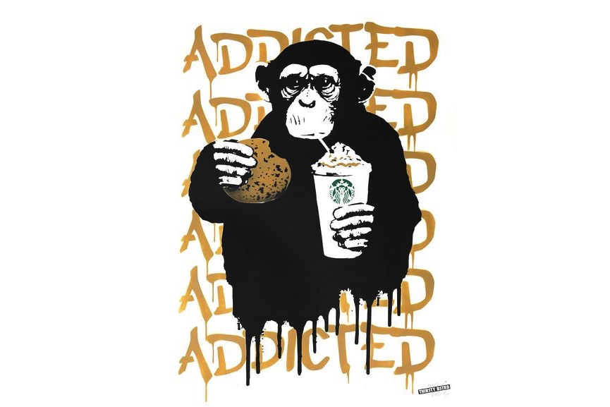 Thirsty Bstrd - Fast Food Monkey – Starbucks Beige, 2016