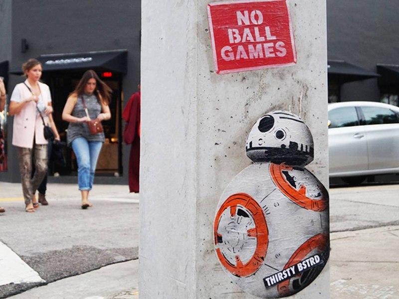 Thirsty Bstrd Miami Art Basel Wynwood Walls, No ball games, 2015
