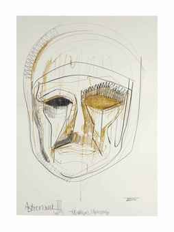 Thomas Houseago-Face Drawing-2009