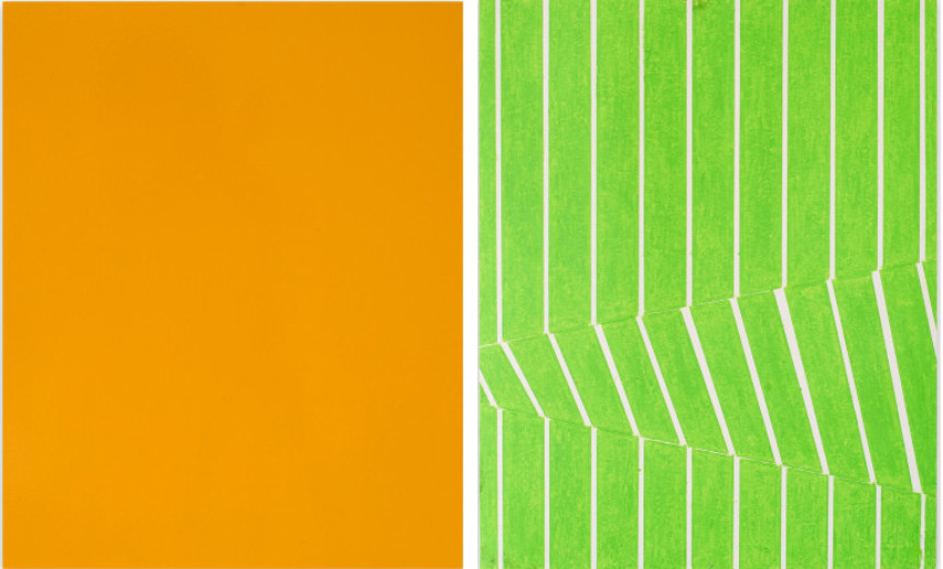 Tilman - Flat View (68,12), 2012 (Left) ----- Untitled View (257,11), 2011 (Right)