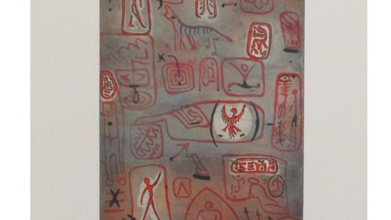 Tilopa Monk - Wandmalerei (Cave Painting), 1984 - courtesy of Sylvan Cole Gallery