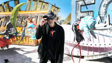 Tim Burton at The Neon Museum