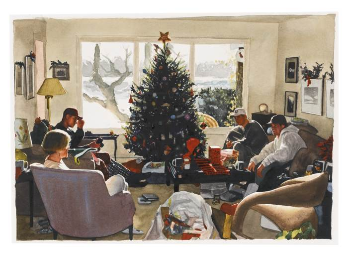 Tim Gardner-Untitled (Mom With Sons At Christmas)-2000