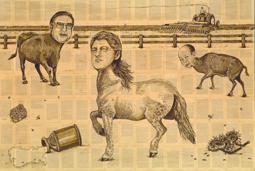 Animal Farm - Big Three, 1989–92, now in tate modern museum, 2017