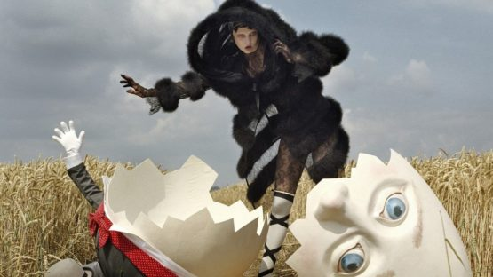 Tim Walker - Karlie Kloss and Broken Humpty Dumpty, 2010 - Image via cloudinary