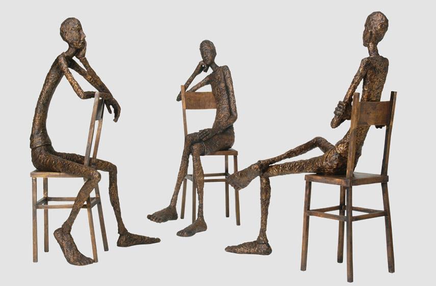 Tina Heuter - Gruppe Sitzende I-III, 2003
