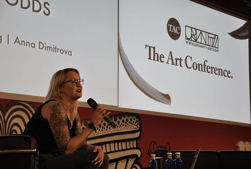 Tina Ziegler of Moniker Art Fair at The Art Conference x Urvanity 2018