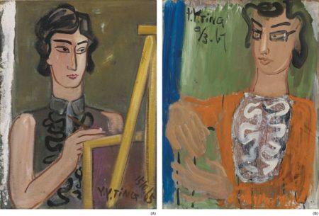 Ding Yanyong-Portrait Of An Artist; Portrait Of A Lady-1967