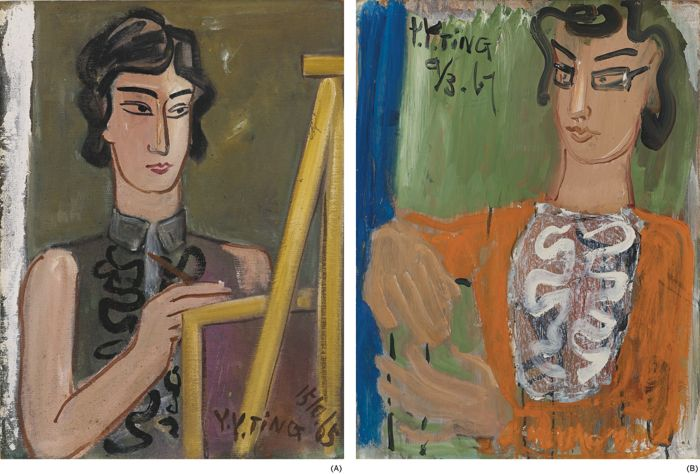 Ding Yanyong-Portrait Of An Artist; Portrait Of A Lady-1967