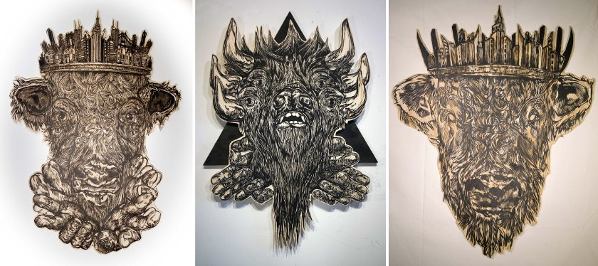 Tiptoe - Minotaur, 2013 - Devils of Godless Worlds, 2014 - Minotaur, 2013 - Courtesy of Vertical Gallery