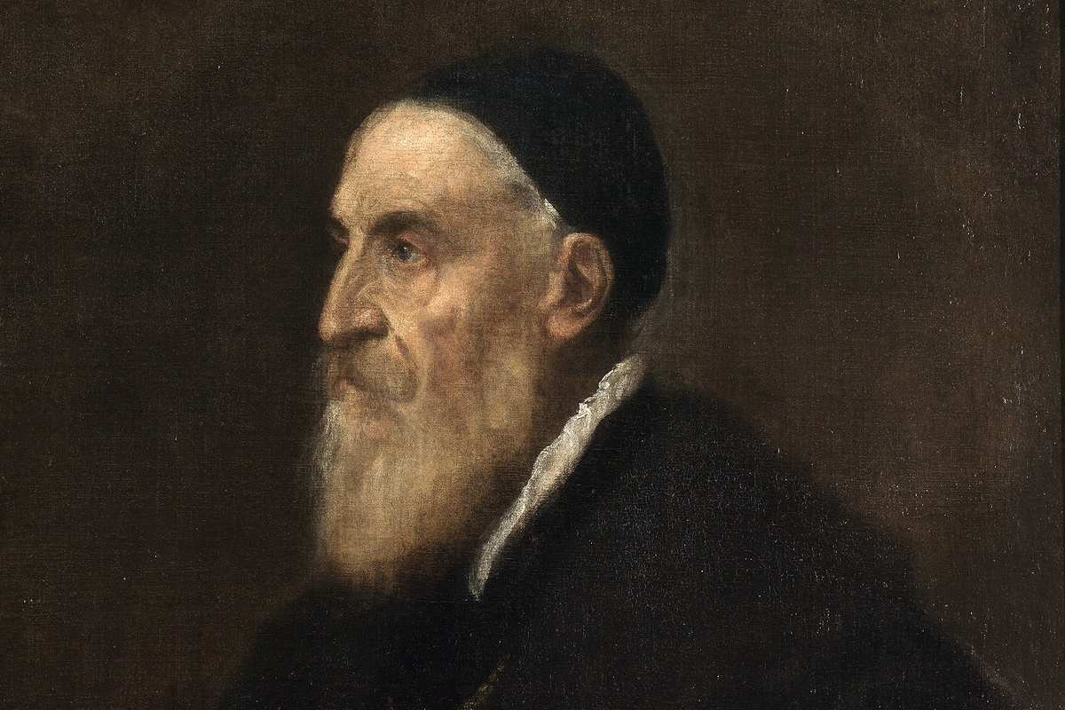 Tiziano - Self-portrait. The best known Titian (Tiziano) portrait works in Venice and other cities