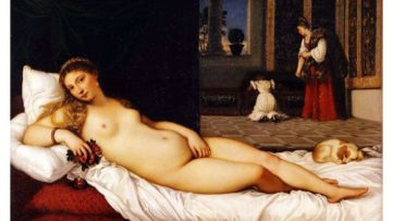 titian portrait of venus,1538 at uffizi, florence