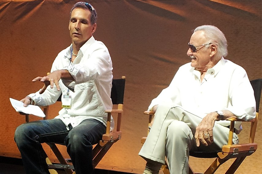 Todd McFarlane and Stan Lee