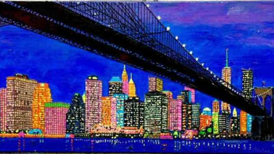 Tom Bacher - Brooklyn Bridge, 2016 - photo courtesy of DTR Modern