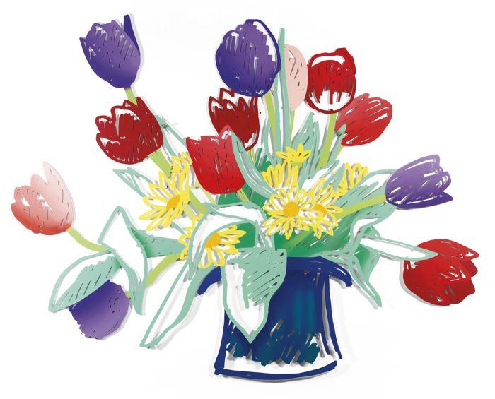 Tom Wesselmann-Birthday Bouquet Edition (Hat Vase)-1988