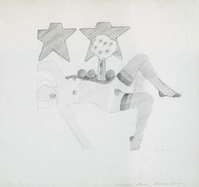 Tom Wesselmann-Drawing For Embossed Nude-1968