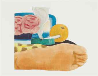 Tom Wesselmann-Drawing for Bedroom Painting #14-1975