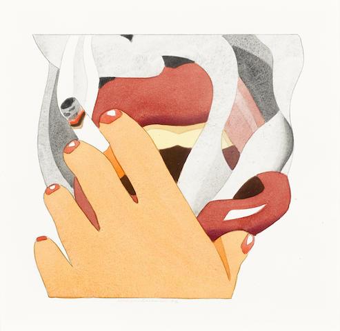 Tom Wesselmann-'From' Smoker Silkscreen-1976