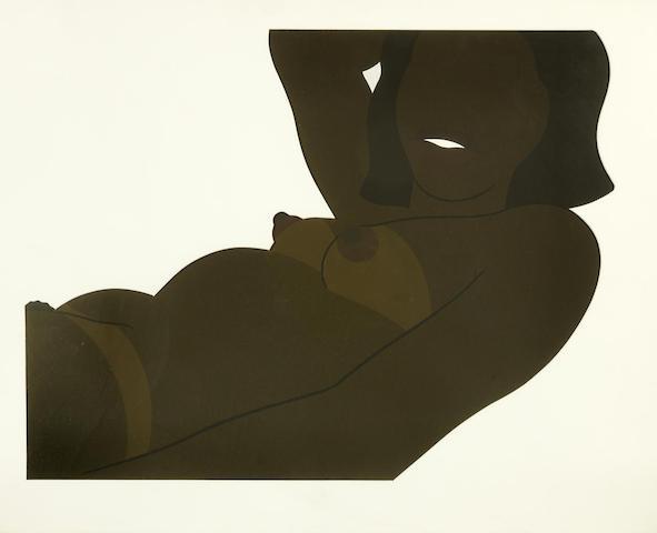 Tom Wesselmann-Great American Brown Nude: Cut Out-1971