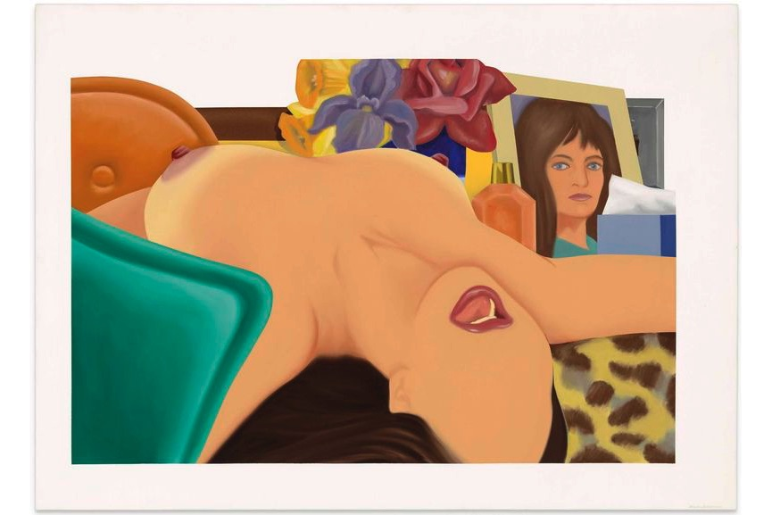 Tom Wesselmann - Long Delayed Nude, 1975, inspired by Still Lifes and Bedroom paintings