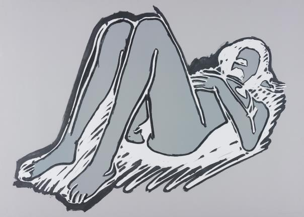 Tom Wesselmann-Monica Lying on Her Back, Knees Up-1990