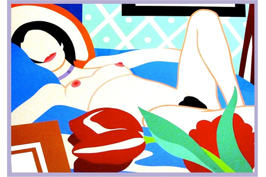 Tom Wesselmann - Monica with Tulips, 1989