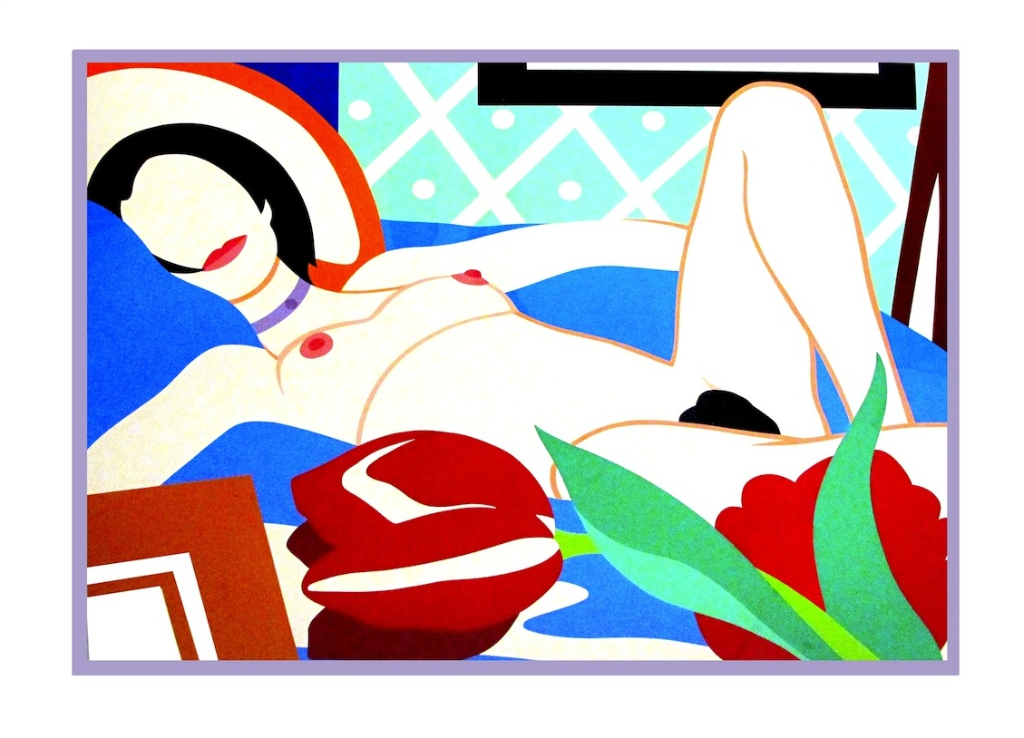 Tom Wesselmann - Monica Woman with Tulips, beauty design artwork