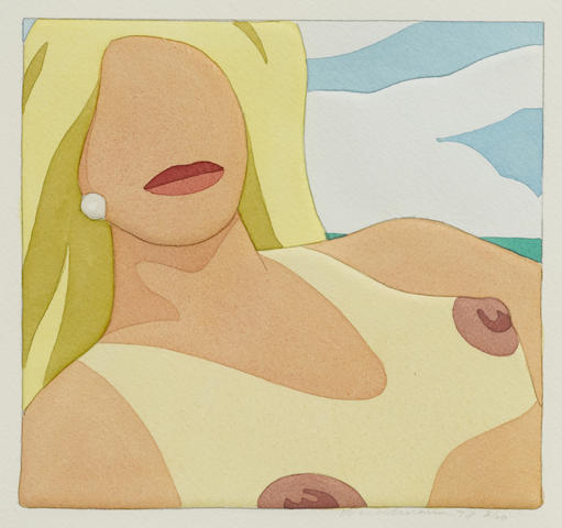Tom Wesselmann-Nude from Seascape Portfolio-1978