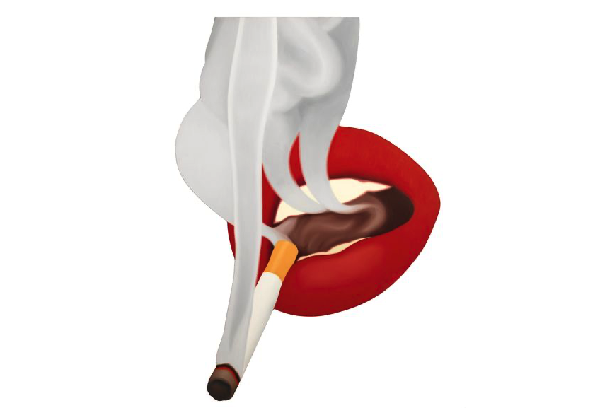 Tom Wesselmann - Smoker #5 (Mouth #19), 1969, from the iconic series of works