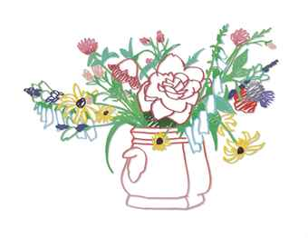 Tom Wesselmann-Wildflower Bouquet (One-Handled Vase)-1988