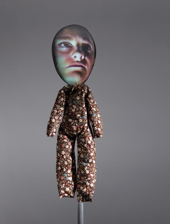 Tony Oursler-Crying Doll (Floral #2)-1993
