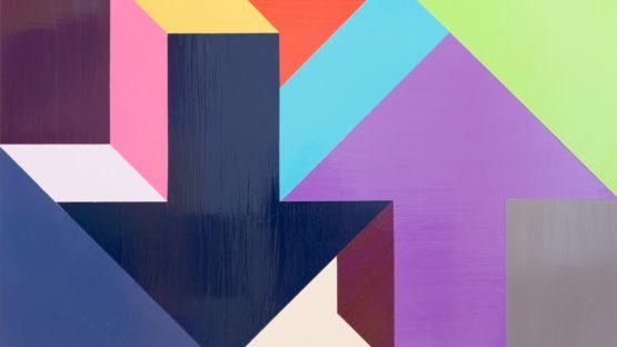 Tony Tasset - Arrow Painting 23, 2015 (detail)