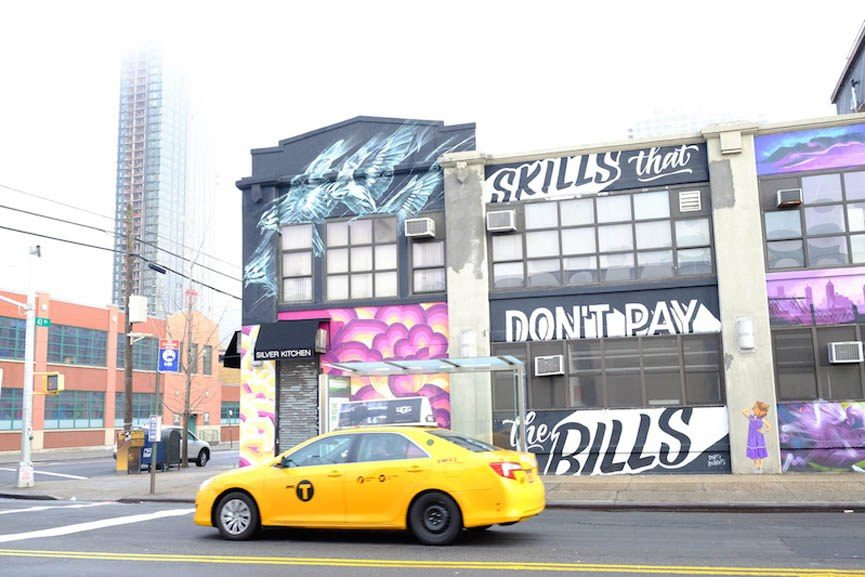 Top to Bottom Project murals in Queens