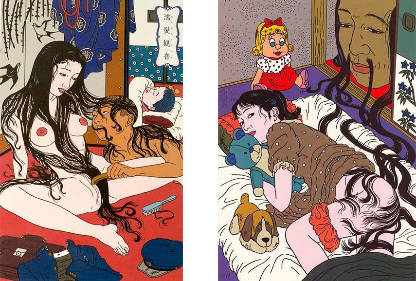 Toshio Saeki new art work, Japanese illustration work in drawing media