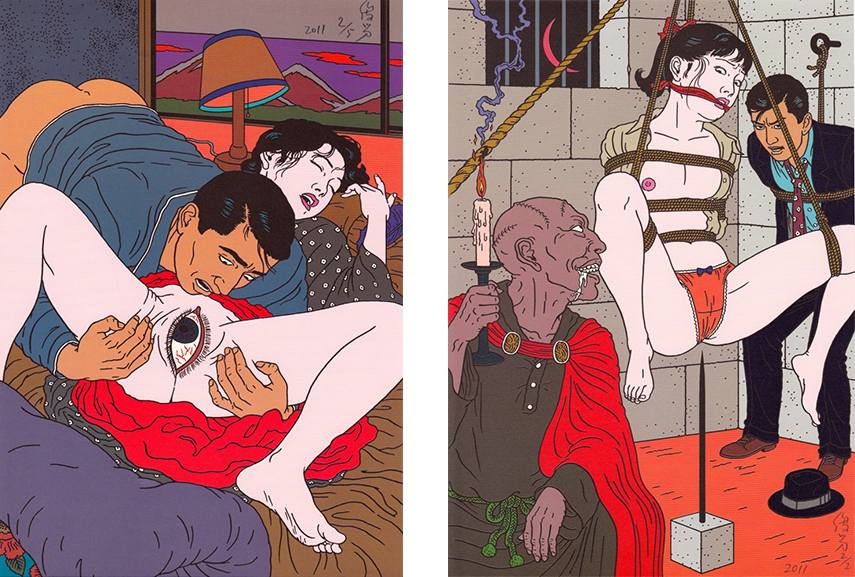 Toshio Saeki art work and music in Japan