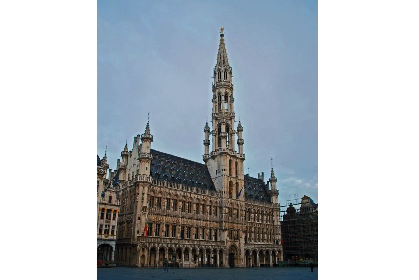 Town Hall, Brussels, the only remaining medieval building in the square